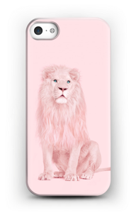 A pink lion case IPhone SE