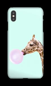 Giraffe met bellenblaas hoesje IPhone XS Max