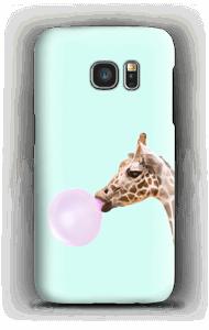 Giraffe mit Kaugummi Handyhülle Galaxy S7