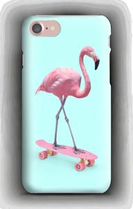 Flamingo på rullebrett deksel IPhone 7