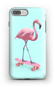Flamingo on skateboard case IPhone 7 Plus tough