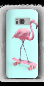 Flamingo op skateboard hoesje Galaxy S8