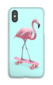 Flamingo på rullebrett deksel IPhone X