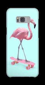 Flamingo on skateboard case Galaxy S8 Plus