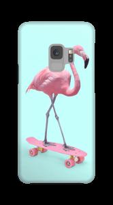 Flamingo auf Skateboard Handyhülle Galaxy S9