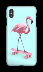 Flamingo op skateboard hoesje IPhone XS Max
