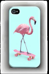 Flamingo på rullebrett deksel IPhone 4/4s