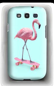 Flamingo på rullebrett deksel Galaxy S3