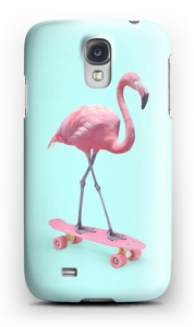 Flamingo on skateboard case Galaxy S4