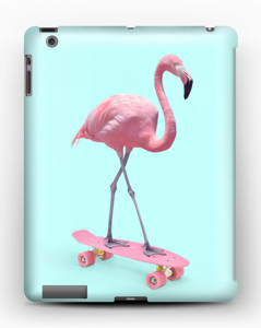Flamingo på rullebrett deksel IPad 4/3/2
