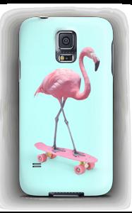 Flamingo on skateboard case Galaxy S5