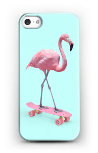 Flamingo on skateboard case IPhone SE