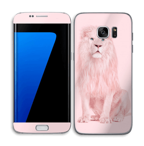 Lion all in pink Skin Galaxy S7 Edge