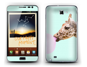 Giraff blåser boble Skin Galaxy Note