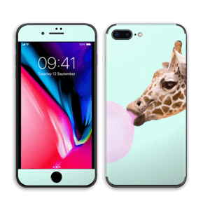 Giraff blåser boble Skin IPhone 8 Plus