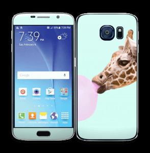 Giraff blåser boble Skin Galaxy S6