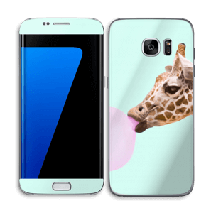 Giraffe with a chewing gum Skin Galaxy S7 Edge