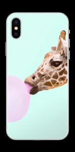 Giraff blåser boble Skin IPhone X