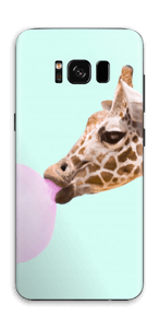 Giraffe with a chewing gum Skin Galaxy S8