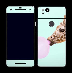 Giraff blåser boble Skin Pixel 2