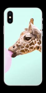 Giraff blåser boble Skin IPhone XS
