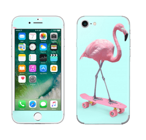 Flamingo på rullebrett Skin IPhone 7
