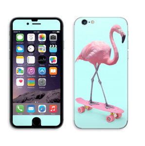 Flamingo på rullebrett Skin IPhone 6/6s