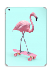 Flamingo på rullebrett Skin IPad Air