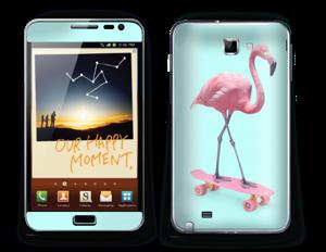 Skateboarding flamingo Skin Galaxy Note