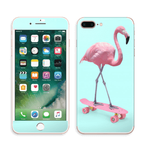 Flamingo på rullebrett Skin IPhone 7 Plus