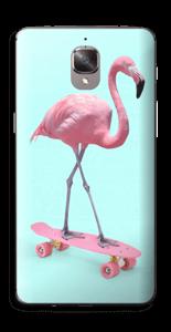 Flamingo på rullebrett Skin OnePlus 3