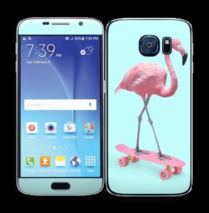 Flamant Rose Skate Skin Galaxy S6