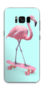 Flamingo on a skateboard Skin Galaxy S8