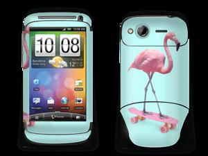 Flamingo på rullebrett Skin Desire