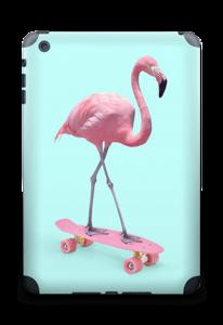 Flamingo på rullebrett Skin IPad mini 2 back