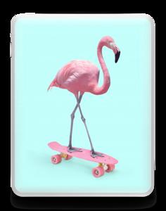 Flamingo på rullebrett Skin IPad 1