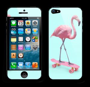 Flamingo på rullebrett Skin IPhone 5