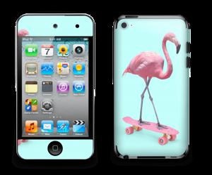 Flamingo on a skateboard Skin IPod Touch 4th Gen