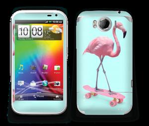 Flamingo på rullebrett Skin Sensation XL