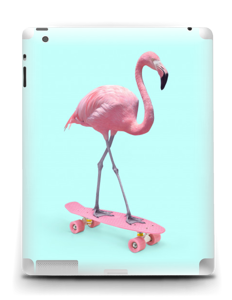Flamingo on a skateboard Skin IPad 4/3/2