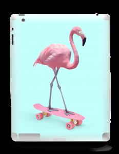 Flamingo på rullebrett Skin IPad 4/3/2