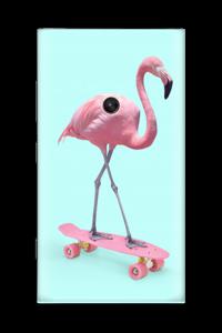 Flamingo på rullebrett Skin Nokia Lumia 920