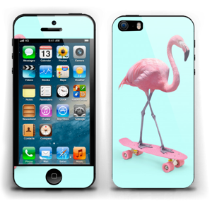 Flamingo på rullebrett Skin IPhone 5s