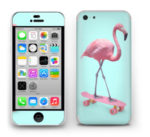 Flamingo på rullebrett Skin IPhone 5c