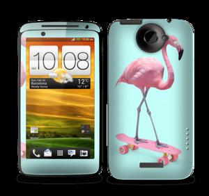 Flamingo på rullebrett Skin One X