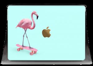 "Flamingo på rullebrett Skin MacBook 12"""
