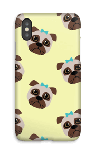 Sad pugs case IPhone X