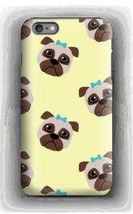 Cute but sad pugs case IPhone 6 Plus tough