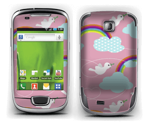 Peace, birds & rainbows Skin Galaxy Mini