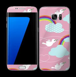Peace, birds & rainbows Skin Galaxy S7 Edge